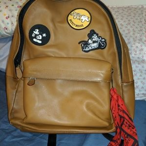 COACH X DISNEY Large Brown Backpack